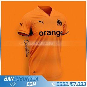 áo bóng đá may theo yêu cầu màu cam