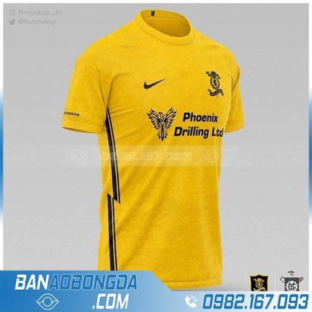 áo bóng đá đội tuyển thiết kế màu vàng