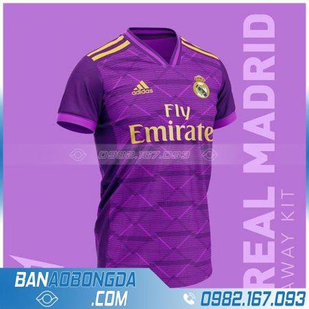Áo bóng đá Real Madrid chế màu tím đẹp