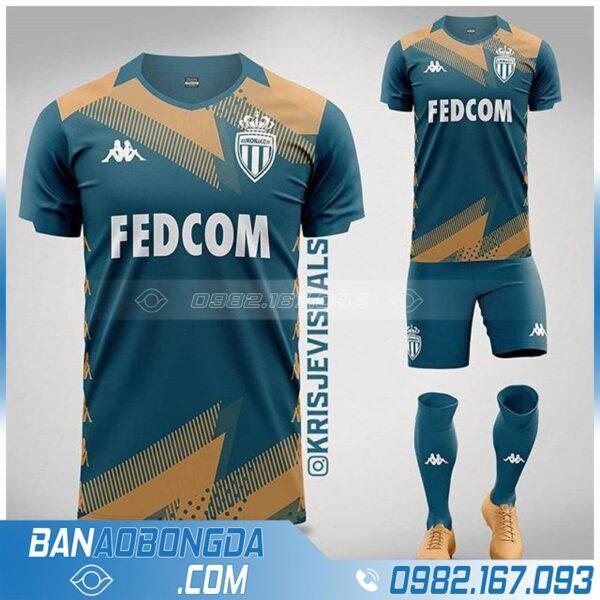 áo bóng đá as monaco thiết kế theo yêu cầu