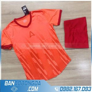 áo đá bóng không logo màu da cam