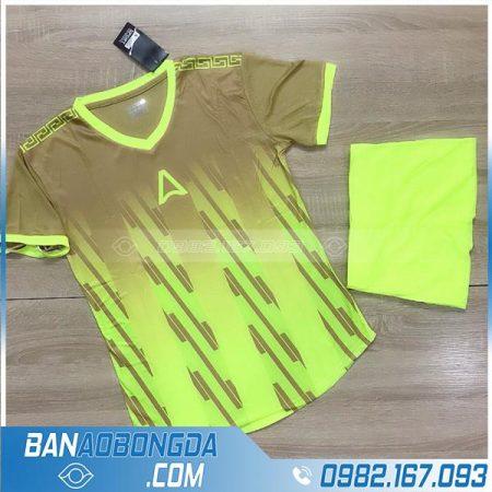áo đấu bóng đá không logo màu xánh chuối