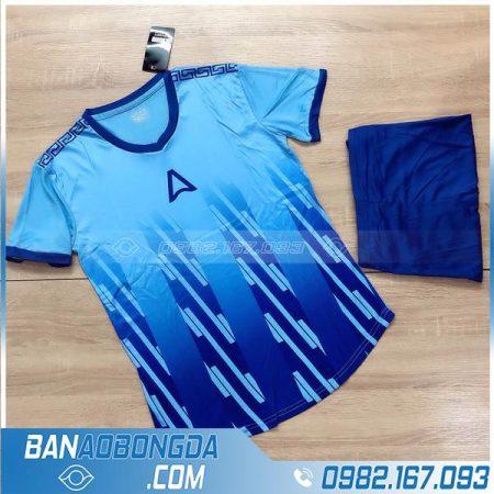 áo bóng đá không logo màu xanh da trời