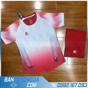 áo bóng đá không logo màu đỏ đô đẹp