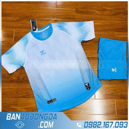 áo đá banh không logo màu xanh da trời