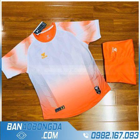 áo bóng đá không logo màu da cam