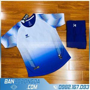 áo đá banh không logo màu xanh dương