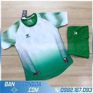 áo không logo vải Thái Lan màu xanh lá