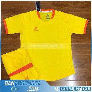 áo bóng đá không logo lidas màu vàng