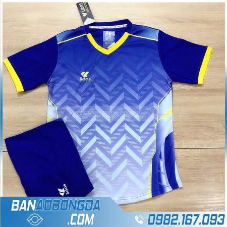 áo đá bóng không logo màu xanh dương đẹp