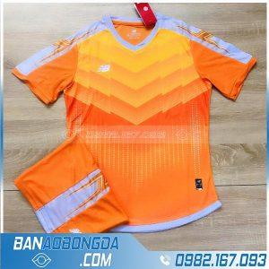 áo bóng đá không logo màu cam