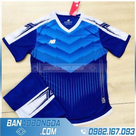 áo đấu bóng đá không logo màu xanh dương