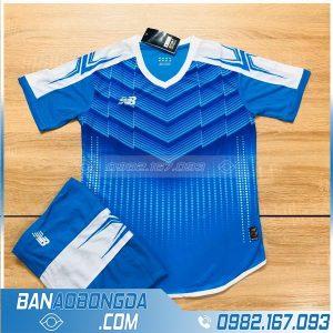 áo bóng đá không logo LM 09 màu xanh da trời