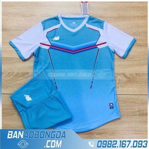 áo bóng đá không logo vải Thái lan HZ LM10 màu xanh lơ