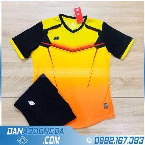 áo bóng đá không logo HZ LM 10 màu vàng đẹp mắt