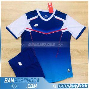 áo bóng đá không logo xịn màu xanh dương HZ LM10 đẹp