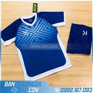 áo đấu bóng đá không logo HZ NQ01 màu xanh dương đẹp