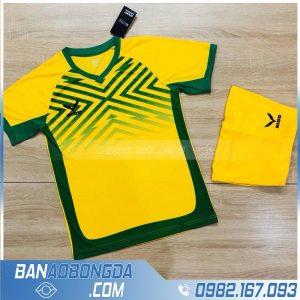 áo bóng đá không logo cao cấp màu vàng HZ NQ1