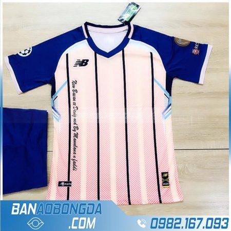 áo bóng đá không logo màu hồng HZ LM12