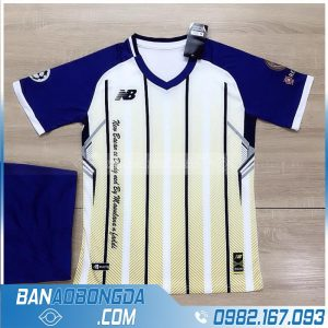 áo đá bóng không logo cao cấp HZ LM12 màu trắng