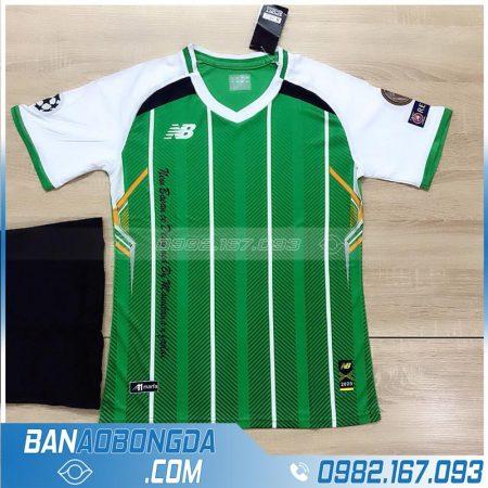 quần áo bóng đá k logo HZ LM12 màu xanh lá
