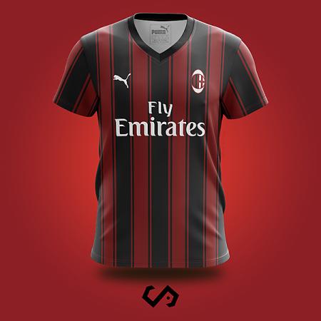 áo AC Milan tự thiết kế đẹp