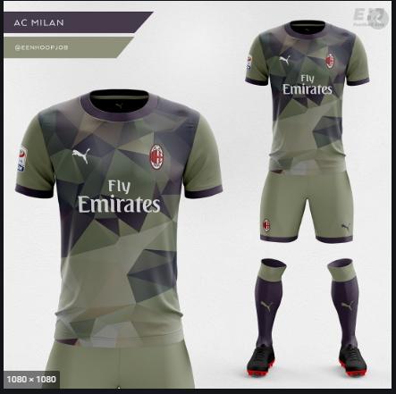 Quần áo AC Milan màu xám