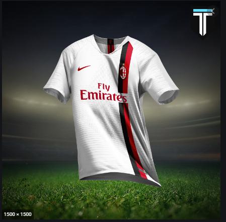 áo thể thao AC Milan chế màu trắng