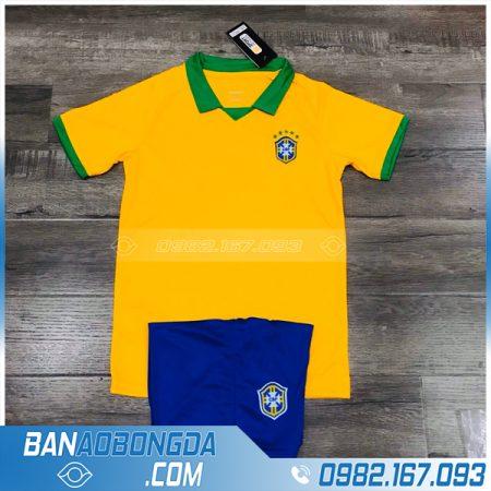 áo đá banh trẻ em brazil