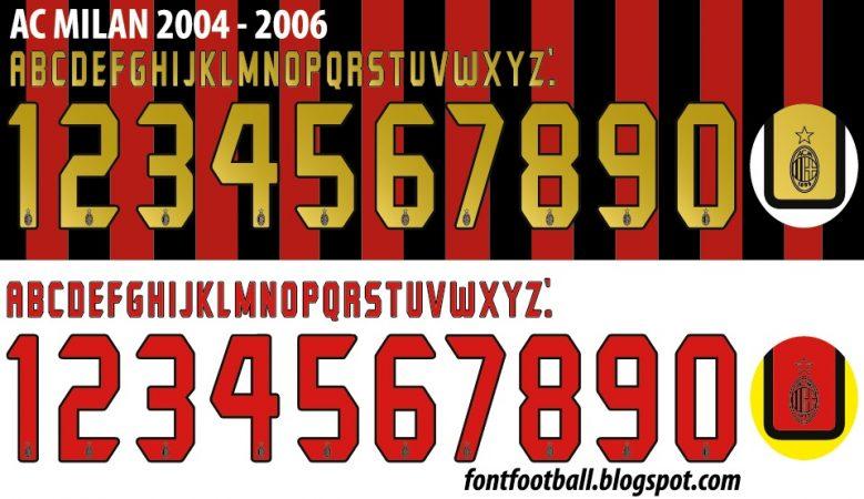 mẫu font in áo ac milan