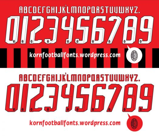 Font in áo đấu bóng đá đẹp