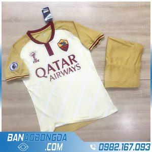 áo bóng đá As Roma 2021 màu vàng sữa