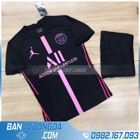 áo PSG 2021 chế màu đen vải Thái Lan