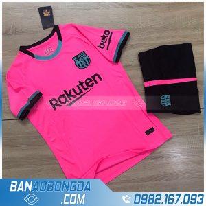 quần áo bóng đá barcelona 2021 màu hồng đậm