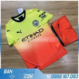 áo bóng đá Man City cao cấp màu cam - xanh chuối