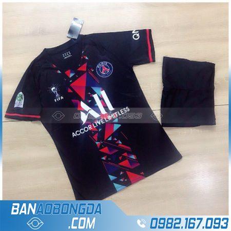 quần áo bóng đá PSG 2021 training 1 màu đen