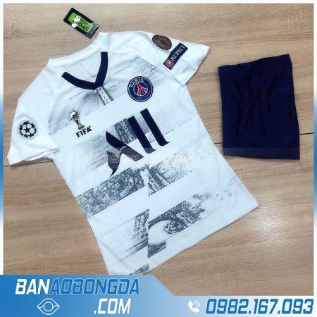 áo đấu PSG 2021 training 2 màu trắng