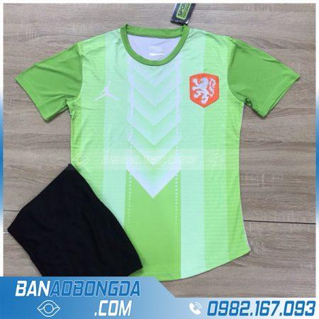Áo đội tuyển Hà Lan màu xanh chuối