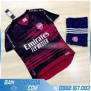 áo Arsenal 2021 chế màu đỏ đen