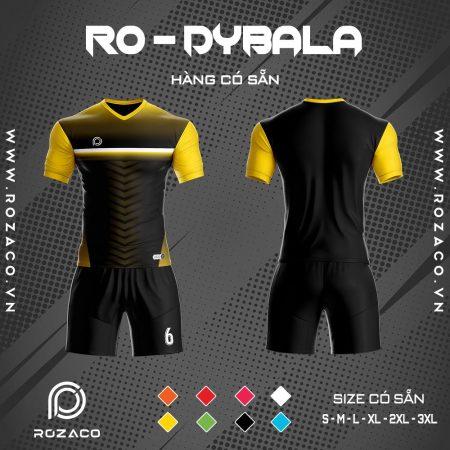 áo bóng đá không logo 2020 Dybala màu đen