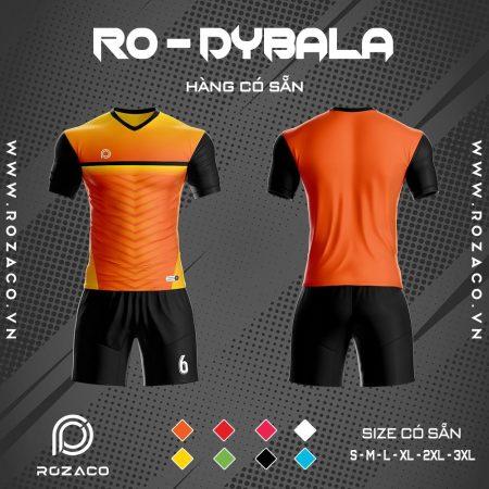 áo bóng đá không logo Dybala màu cam