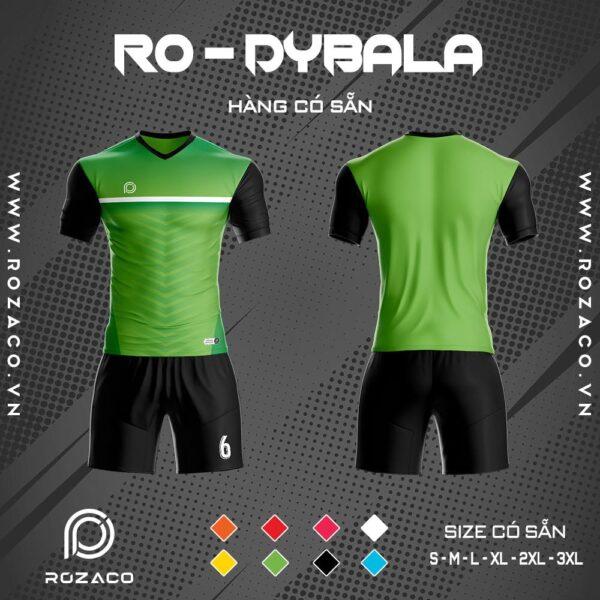 quần áo bóng đá không logo màu xanh lá Dybala