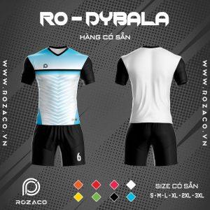 Áo đá banh không logo màu trắng Dybala
