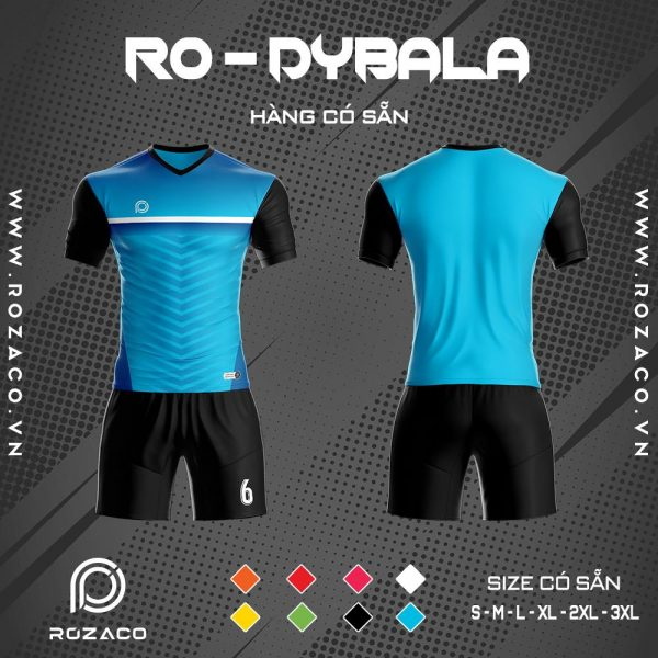 áo bóng đá không logo cao cấp Dybala màu xanh dương