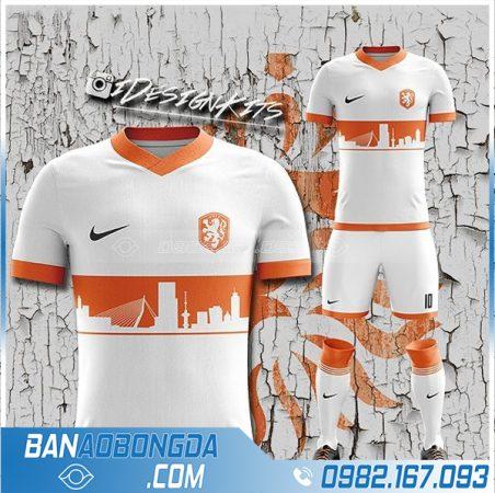 Áo đội tuyển Hà Lan tự chế HZ 366 màu trắng đẹp