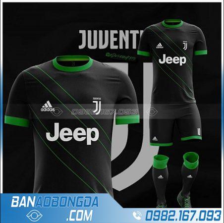 áo bóng đá Juventus tự thiết kế HZ 368 màu đen