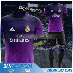 áo Real Madrid HZ 375 màu tím