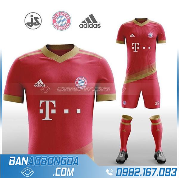 áo bóng đá bayern munich thiết kế màu đỏ HZ 382