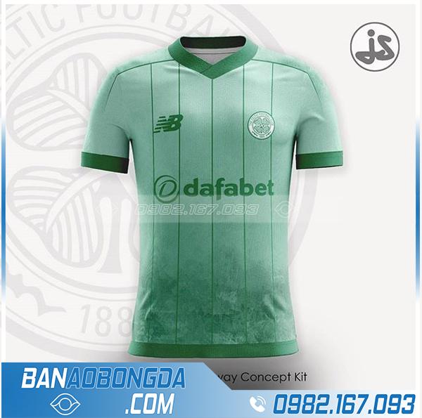 áo bóng đá chế HZ 383 màu xanh lá