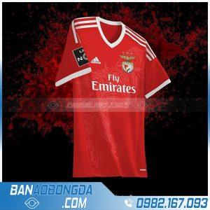 áo bóng đá tự thiết kế HZ 388 màu đỏ